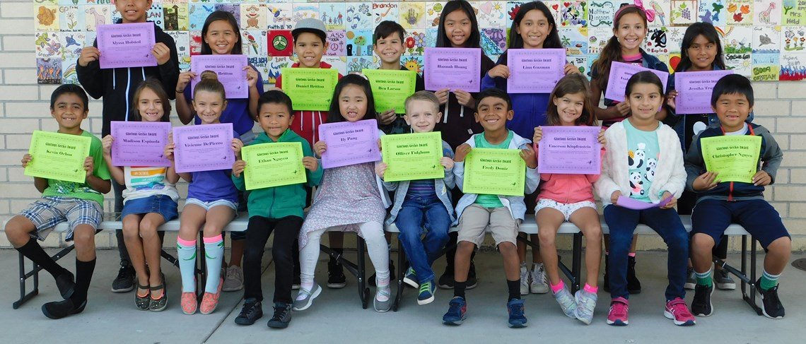 Garden Park honors our monthly Glorious Geckos!